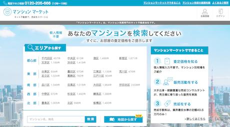 「マンションマーケット」サイト(出典)マンションマーケット