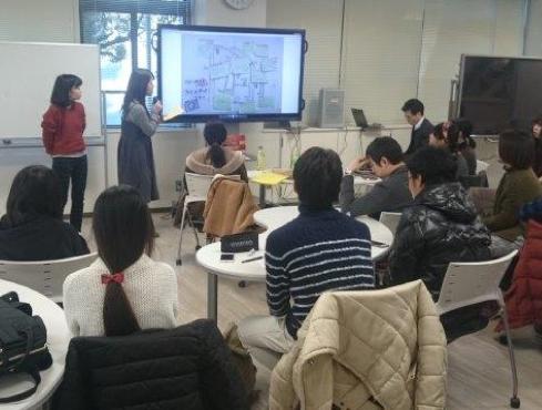 岡山大学におけるグループ演習風景
