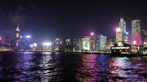 Star Ferryから見た香港の夜景