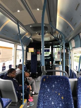RTCバスの車内