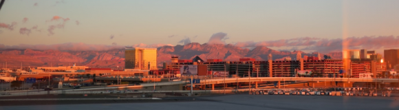 Las Vegas 空港から見た市街地