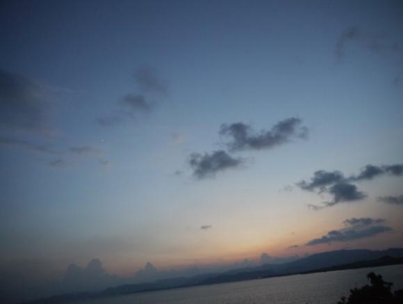 日本一遅い日没と宵の明星(小浜島)