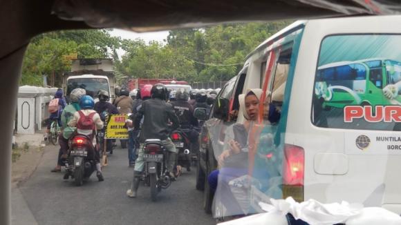 ジョグジャカルタの渋滞