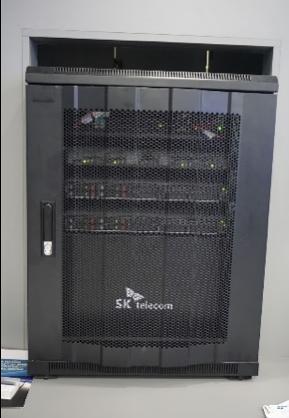 会場内に設置されたエッジコンピューティング環境