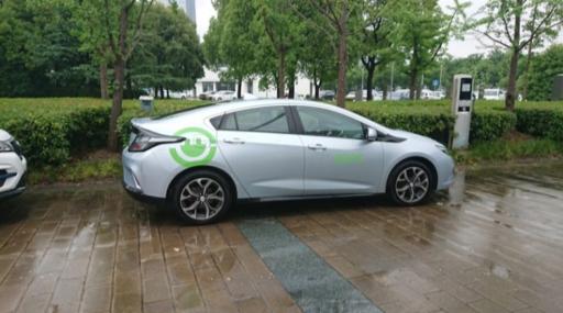 上海汽車博覧公園の試乗用EV