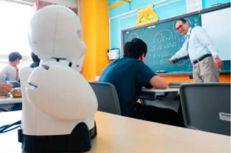 OriHimeによる授業参加イメージ