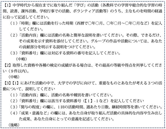 京都大学が求める学びの報告書