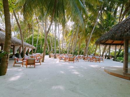 昼間のリゾート内のバーの風景