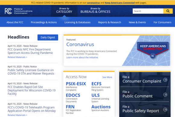 FCCのトップページ