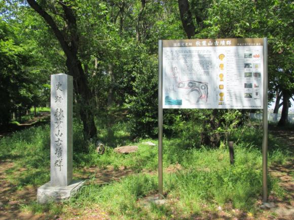 秋葉山古墳群の案内板