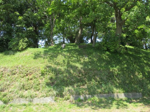 秋葉山で最古の3号墳(木々の中)