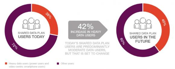 【図3】データシェアプランに加入しているヘビー/ライトユーザーの割合