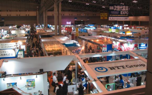 次世代農業EXPOの様子。農業を強くするためのソリューションが一堂に集まった