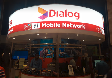 携帯電話キャリアの店舗(バンダラナイケ国際空港)