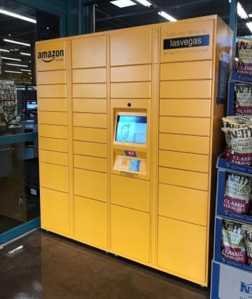 店内に設置されたAmazon Locker