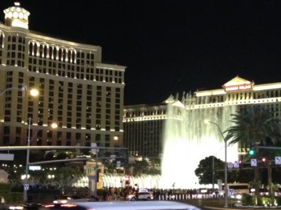 Bellagio Hotelの噴水ショー