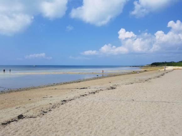 「はいむるぶし」のプライベートビーチ(小浜島)