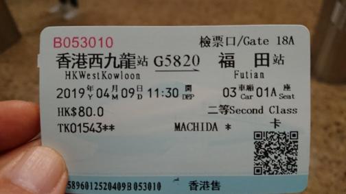 高速鉄道の乗車券