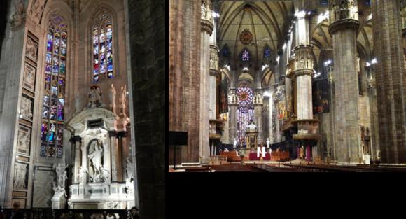 ミラノ大聖堂内
