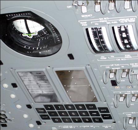 コントロールパネルに実装された誘導コンピュータのユーザー・インターフェイス部分