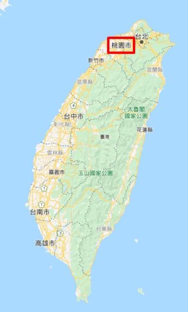 台湾における桃園の位置