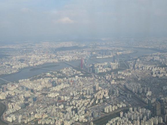 ソウル市を望む