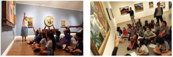 【写真1】欧米美術館での学習風景