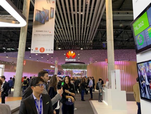MWC会場の様子(Huawei、Hall 1、MWC2019)