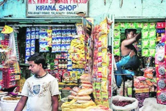 【写真1】「キラナ」と呼ばれる典型的なインドの小規模商店