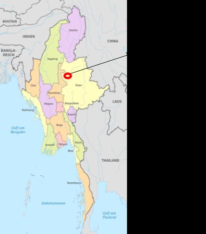 【図1】ジャウメイの地理的位置