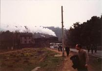 【写真15】杭州郊外で見たSL