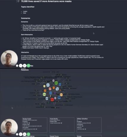 【図17】Primer社の分析結果 上:3タイプのまとめ、下:関係者相関図