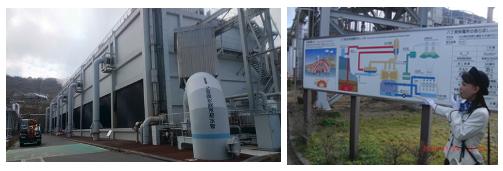 【写真16、17】地熱発電所内見学ツアー