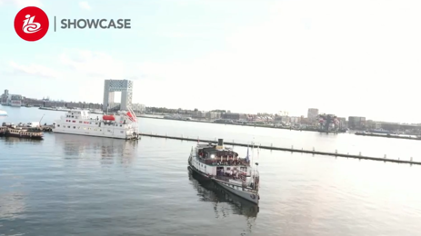 【図1】「5Gリモートプロダクション」が行われた客船(アムステルダム)