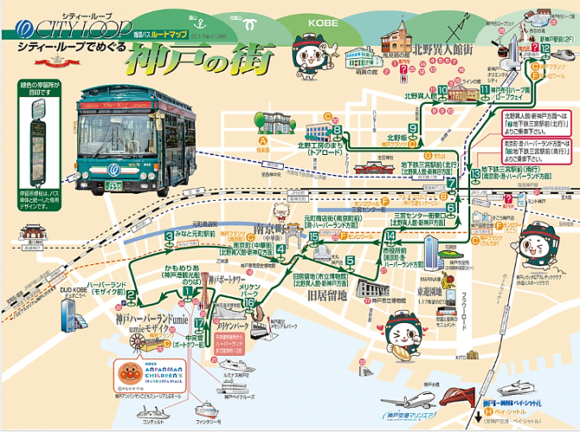 【図1】シティ・ループ運行路線図