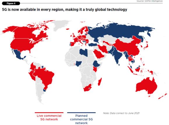 【図1】商用5Gサービス展開状況
