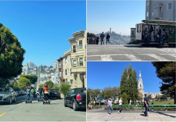 【写真1】サンフランシスコ市の観光スポットを巡る観光客